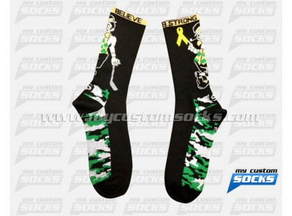 Bradys Munch Lacrosse Irish Camo Socks