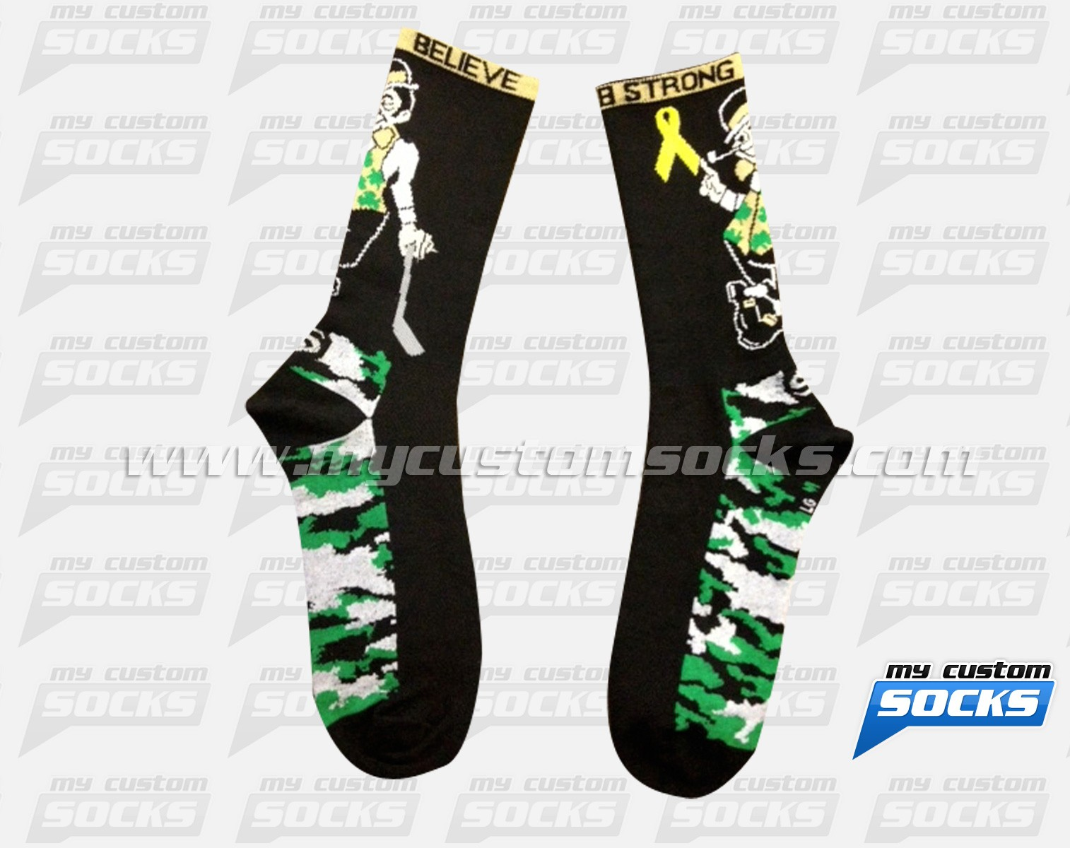 Bradys Munch Lacrosse Irish Camo Socks