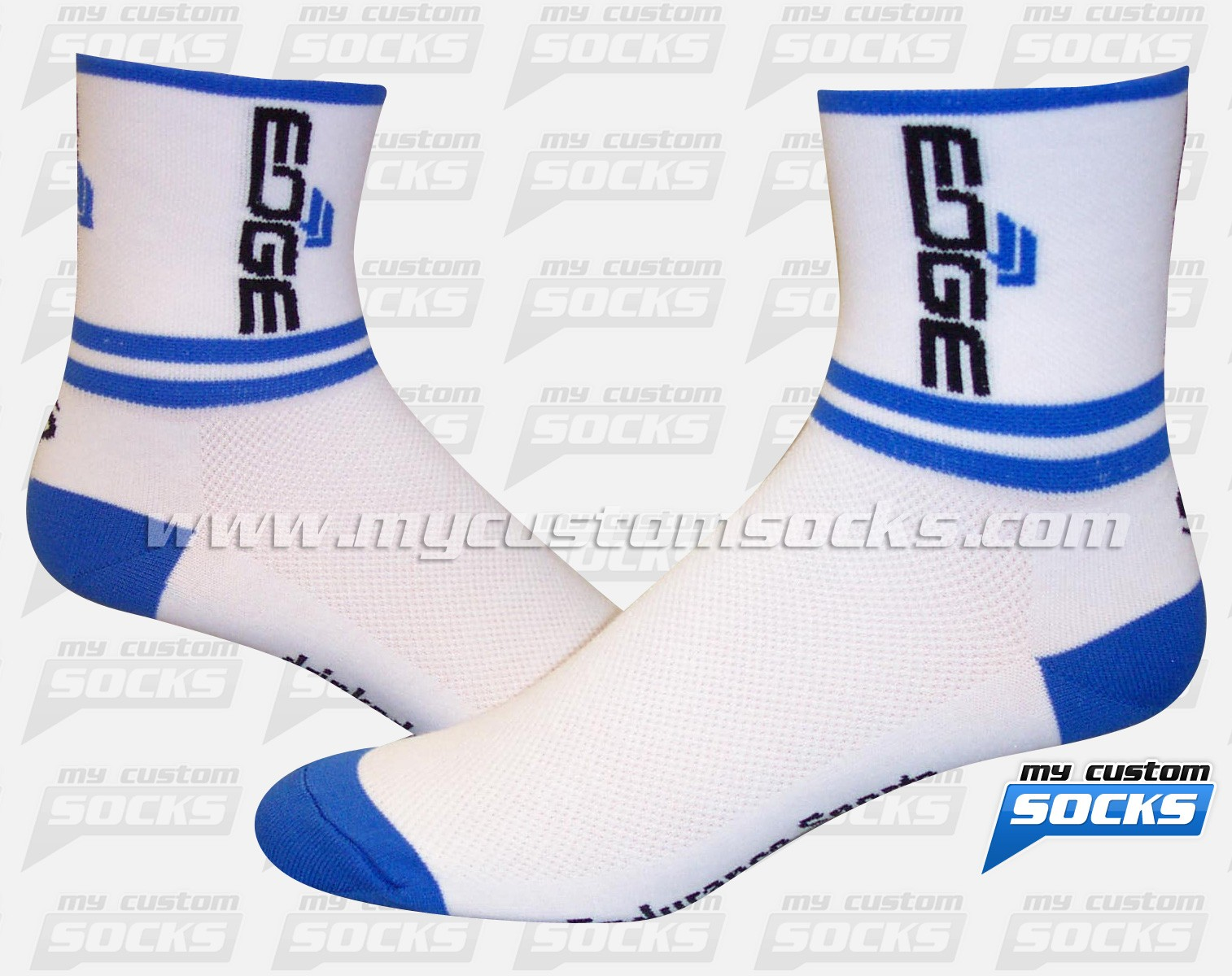 EDGE Sports Nutrition White Socks