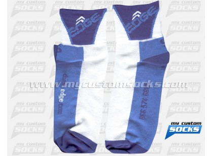 EDGE Sports Nutrition Blue Socks