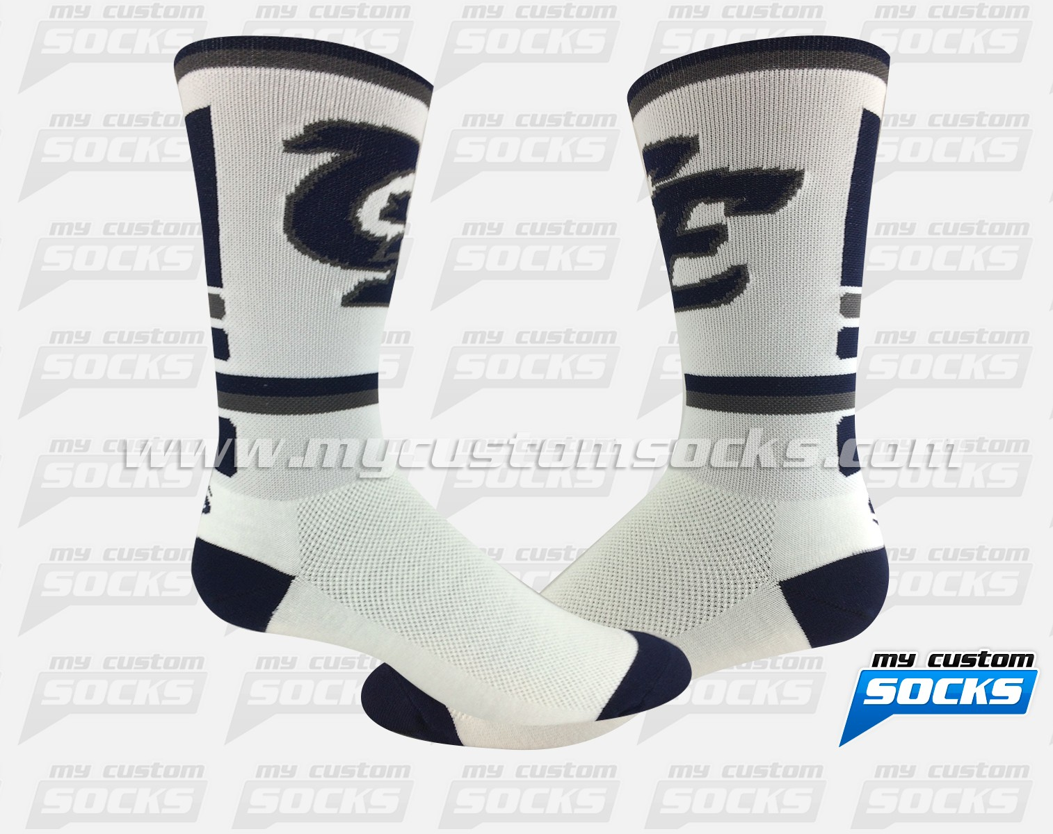 Clovis East Football - white/navy
